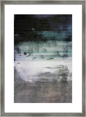 Boardwalk Blues- Art By Linda Woods Framed Print
