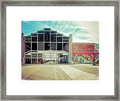 Framed Print featuring the photograph Boardwalk Casino - Asbury Park by Colleen Kammerer