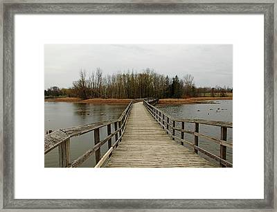 Boardwalk Framed Print by Debbie Oppermann