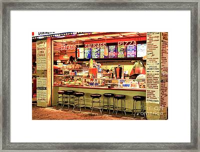 Boardwalk Dining Colors At Wildwood Framed Print by John Rizzuto