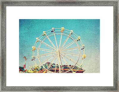 Boardwalk Ferris Wheel Framed Print
