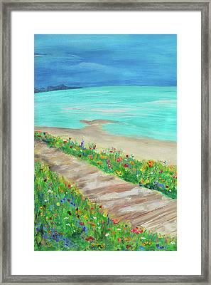 Boardwalk In Carmel Framed Print