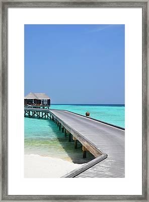 Boardwalk In Paradise Framed Print by Corinne Rhode