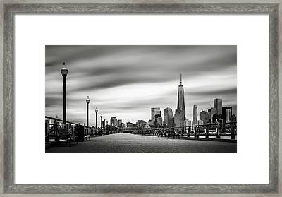 Boardwalk Into The City Framed Print by Eduard Moldoveanu