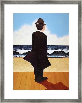 Boardwalk Man Framed Print