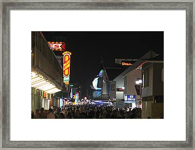 Boardwalk Night Lights Framed Print