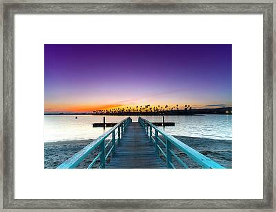 Boardwalk Of Enlightenment Framed Print