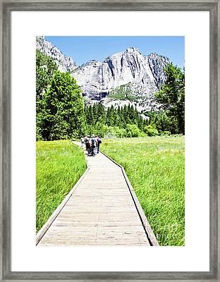 Boardwalk On Yosemite Meadow Framed Print