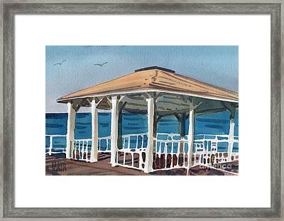 Boardwalk Pavillion Framed Print