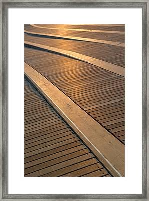 Boardwalk Framed Print by Sebastian Musial