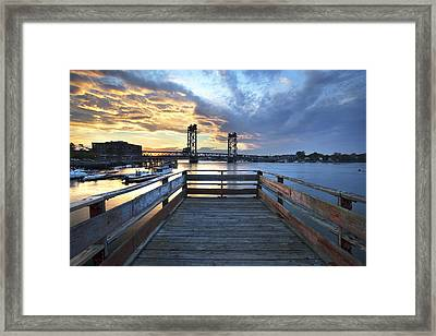 Boardwalk Sunset Framed Print