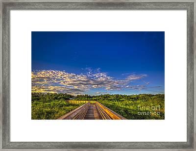 Boardwalk Sunset Framed Print by Marvin Spates