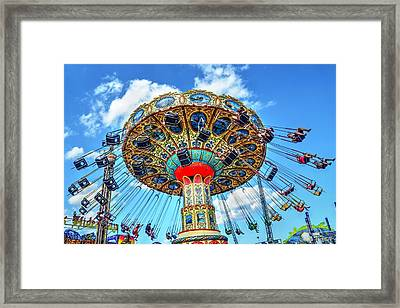 Boardwalk Swings Framed Print