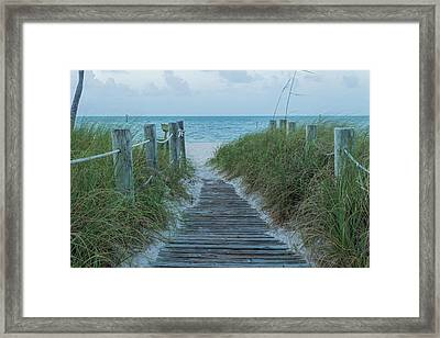 Framed Print featuring the photograph Boardwalk To The Beach by Kim Hojnacki