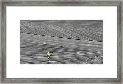 Boardwalk Toy Framed Print by Maria Scarfone