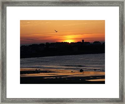Boar's Head Sunrise Framed Print by Lois Lepisto
