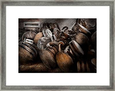 Boat - Block And Tackle  Framed Print by Mike Savad