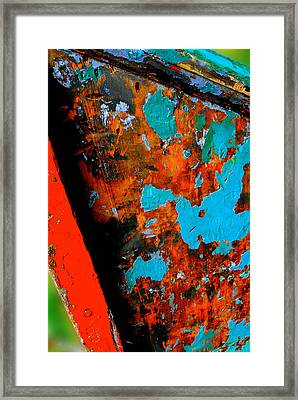 Boat Abstract Framed Print by Craig Perry-Ollila