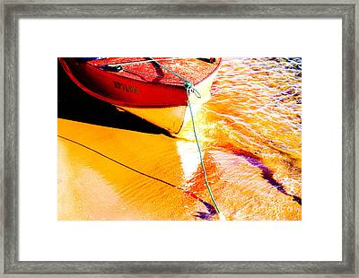Boat Abstract Framed Print by Avalon Fine Art Photography