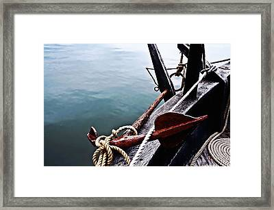 Boat Anchor Framed Print