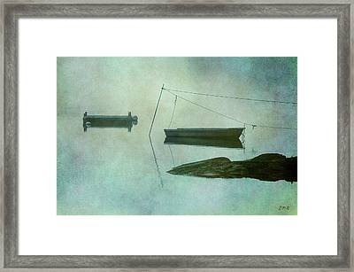 Boat And Dock Taunton River No. 2 Framed Print by Dave Gordon