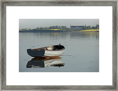 Boat And Reflection Framed Print