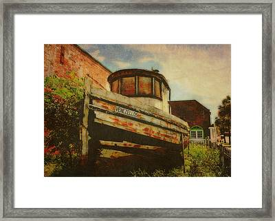 Boat At Apalachicola Framed Print by Toni Hopper