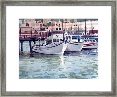 Boat At Fisherman's Wharf Framed Print by Donald Maier