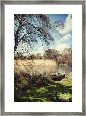 Boat At Llyn Padarn Framed Print