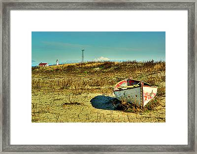 Boat At Point Wilson Framed Print by Dale Stillman