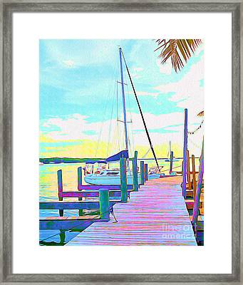 Boat At Sunset I Framed Print by Chris Andruskiewicz