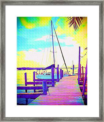 Boat At Sunset II Framed Print by Chris Andruskiewicz