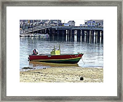 Boat At The Beach Provincetown Framed Print