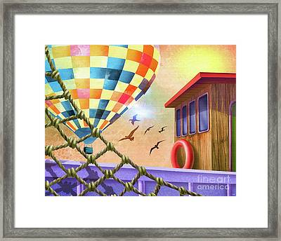 Boat Cabin Framed Print by L Wright