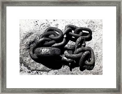 Boat Chain Framed Print by John Rizzuto