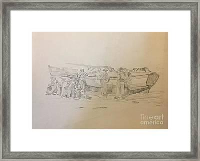 Boat Crew Framed Print
