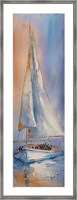 Boat Full Of Hope Framed Print by Mary DuCharme
