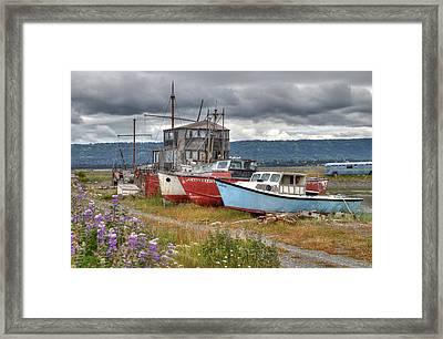 Boat Graveyard Framed Print