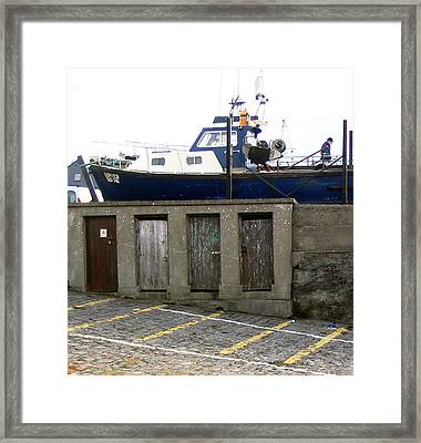 Boat House At Enniscrone Framed Print by Amy Williams