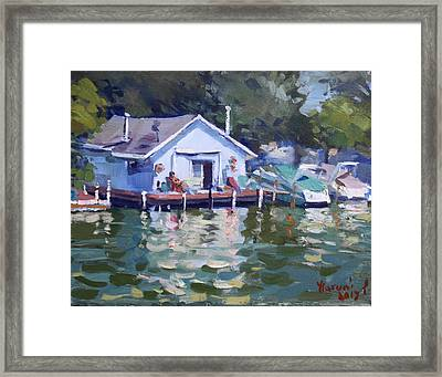 Boat House At Tonawanda Canal Framed Print