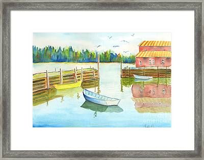 Boat House Framed Print by Carolyn Weir