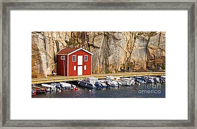Boat House Framed Print by Lutz Baar