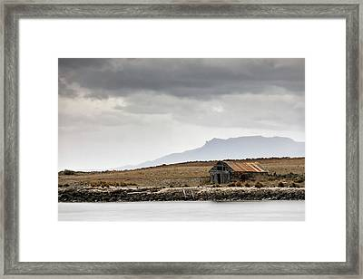 Framed Print featuring the photograph Boat House by Nicholas Blackwell