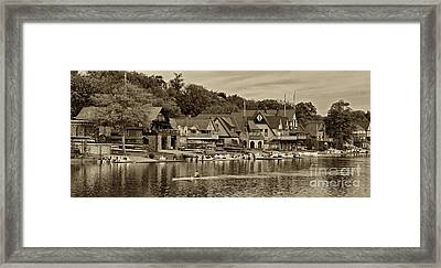 Boat House Row 1 Framed Print by Jack Paolini