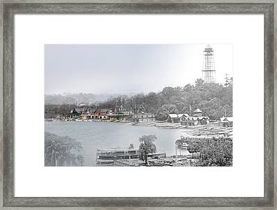 Boat House Row Paddle Boats Framed Print