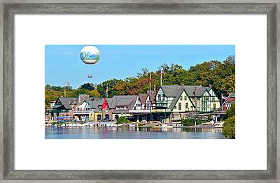 Boat House Row Panoramic Framed Print by Frozen in Time Fine Art Photography