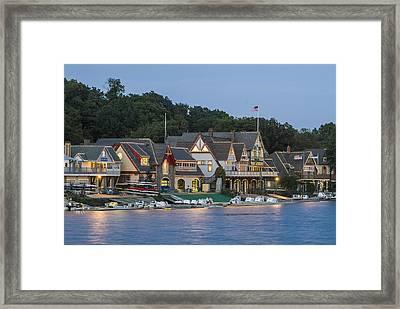 Boat House Row Framed Print