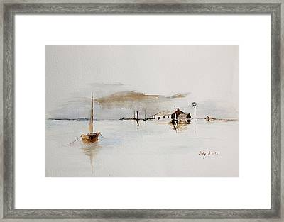 Boat House Framed Print by Sibby S