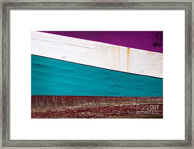 Boat Hull Abstract Framed Print by Delphimages Photo Creations