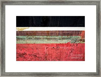 Boat Hull Framed Print by Delphimages Photo Creations